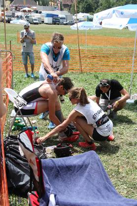Wichtig für die Einzelsportler ist der abgestimmte Einsatz der Supporter