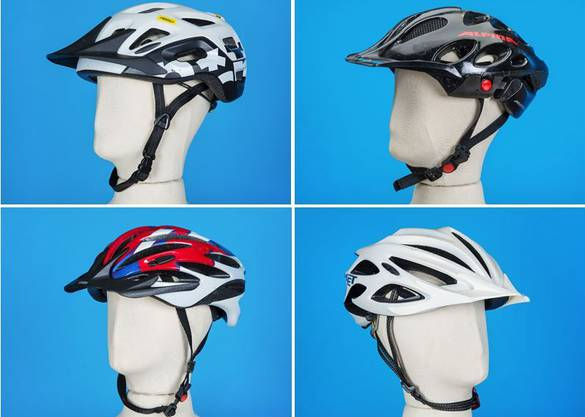 Die Helme, die getragen wurden