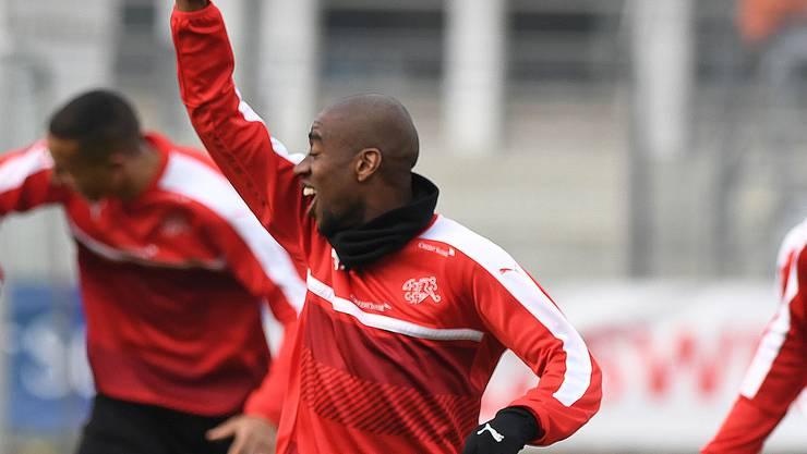 Gelson Fernandes beim Training mit der Schweizer Nationalelf.