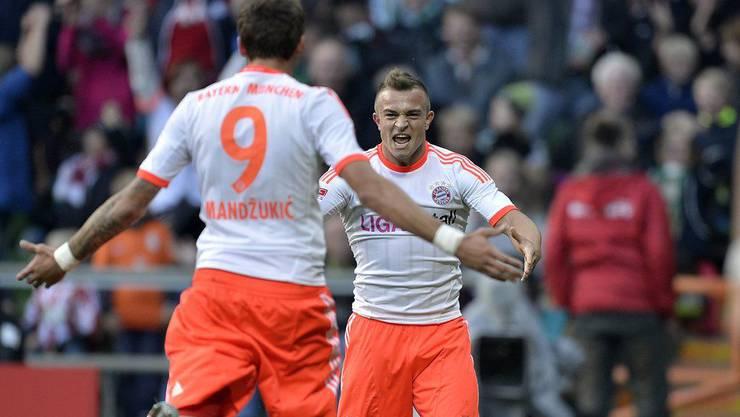 Bayerns neues Traumduo: Pass Shaqiri, Goal Mandzukic.