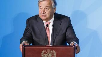 """Uno-Generalsekretär António Guterres hat zum Auftakt der Generaldebatte der Vereinten Nationen vor einem """"grossen Bruch"""" der Welt gewarnt."""