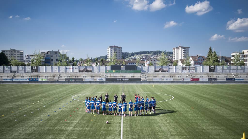 Der FC Wil darf sein Logo doch am Stadion platzieren