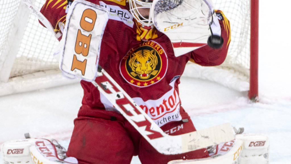 Tigers-Goalie Ivars Punnenovs blieb in Rapperswil ungeschlagen