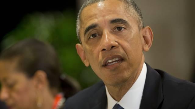 US-Präsident Barack Obama bei einem Treffen am Montag in Peking