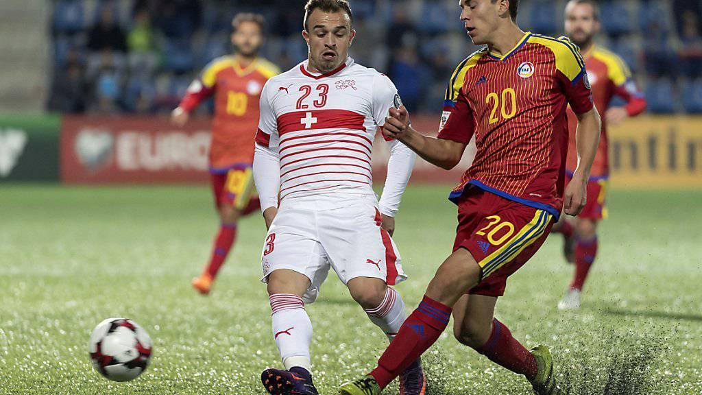 Xherdan Shaqiri, hier im Schweizer Tenü, bringt sich bei Stoke City in Erinnerung