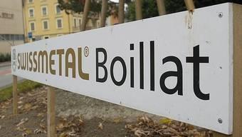 Das Logo der Swissmetal in Boillat (Archiv)