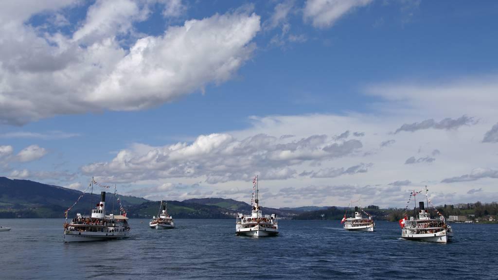 175 Jahre Dampfschifffahrt Vierwaldstättersee - Grosse Flottenparade am Samstag
