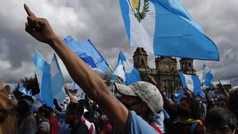 ARCHIV - Demonstranten versammeln sich vor dem Kongress. Foto: Moises Castillo/AP/dpa
