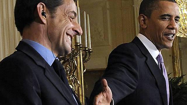 Nicolas Sarkozy zu Besuch bei Barack Obama im Weissen Haus