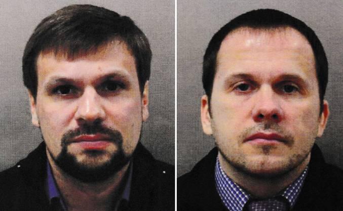 Die Verdächtigen Ruslan Boschirow (l.) und Alexander Petrow (r.).