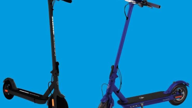 Die E-Scooter «MOMO» und «MASERATI» werden zurückgerufen.