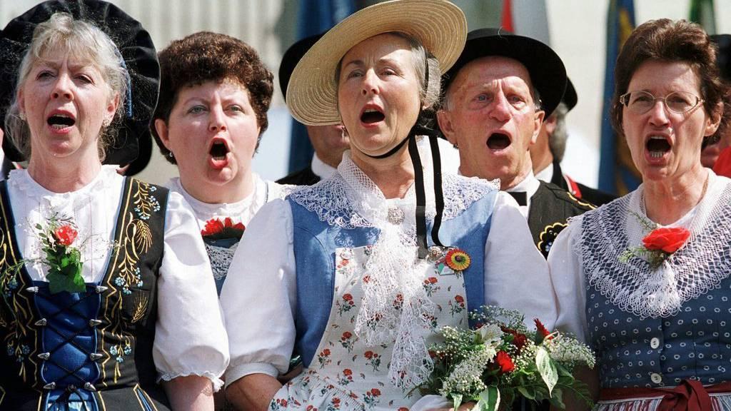 Auch an traditionellen Bundesfeiern möchte die SGG die neue Nationalhymne durchsetzen.