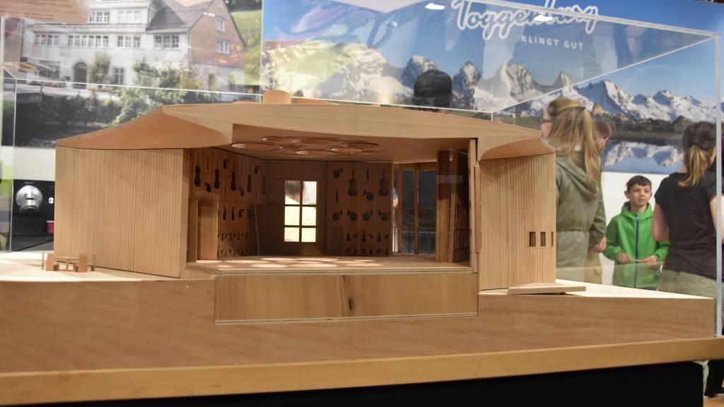 Das Modell des Klanghauses wurde dieses Jahr an der Toggenburger Messe  präsentiert, nun wird es Wirklichkeit.