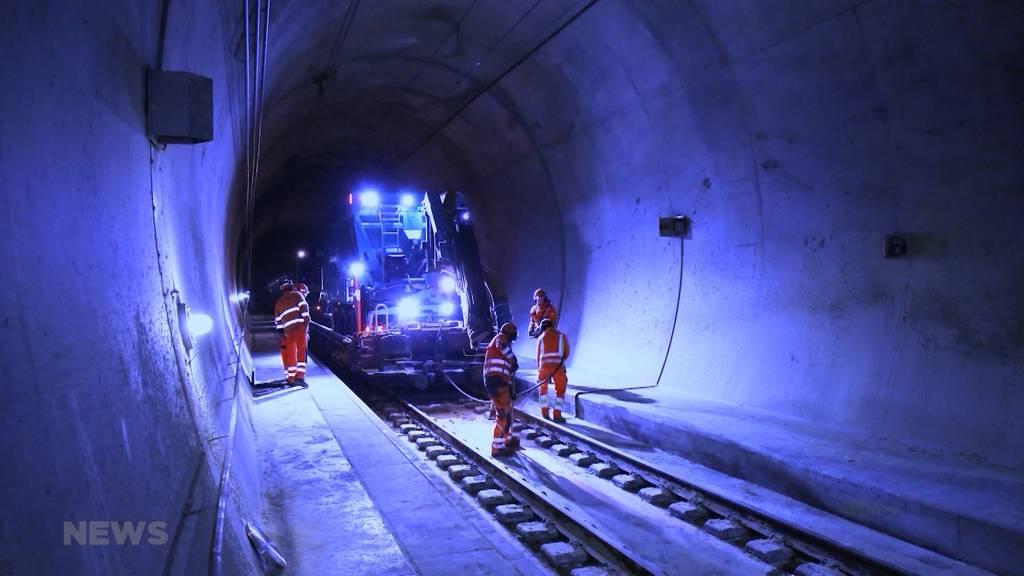 Lötschberg-Basistunnel ab Freitag wieder zweispurig befahrbar