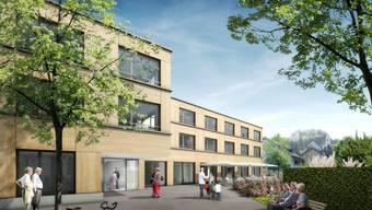 «am Bach»: Das Alterszentrum in Birmensdorf, wie es nach Bauvollendung aussehen soll. Visulaisierung: Egli Rohr Partner AG