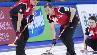 Genfer Teamwork in Kanada (von rechts): Benoît Schwarz, Sven Michel, Valentin Tanner