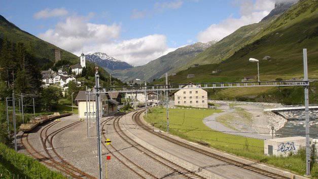 Die heutige Bahnstation in Hospental.