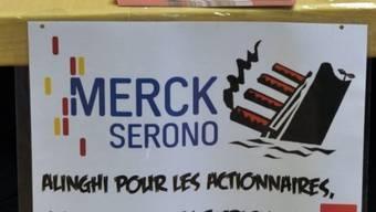 Unia-Plakat: Die Merck-Serono-Angestellten wählten an der Versammlung eine Personalvertretung