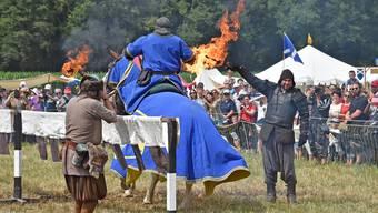 Kämpfe wie im Mittelalter Letztes Jahr in Wolfwil. (Archivbild)