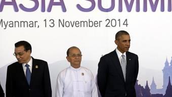 Chinas Premier Li Keqiang, Präsidenten Thein Sein und Obama
