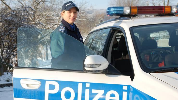 Ab 1. Februar ist Sarah Meier für die Regionalpolizei Oberes Fricktal im Einsatz. (Foto: Werner Hostettler)