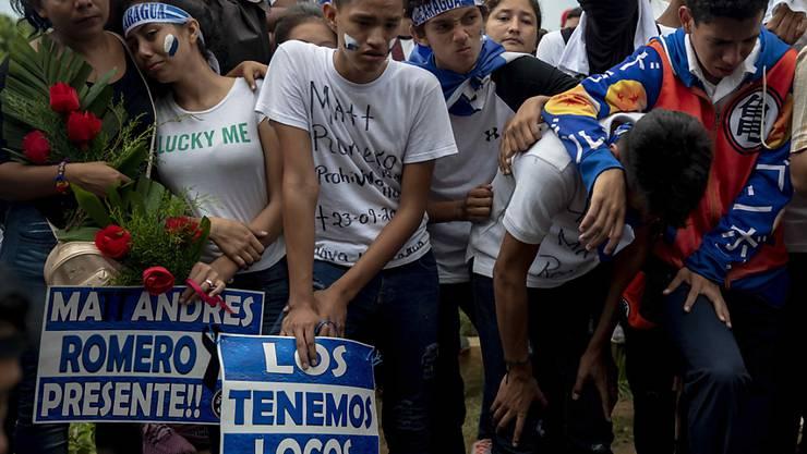 Eine geplante Sozialreform in Nicaragua löste im vergangenen April Unruhen in Nicaragua aus. Mehr als 500 Menschen kamen dabei ums Leben. die EU droht Nicaragua inzwischen mit Sanktionen. (Archivbild).
