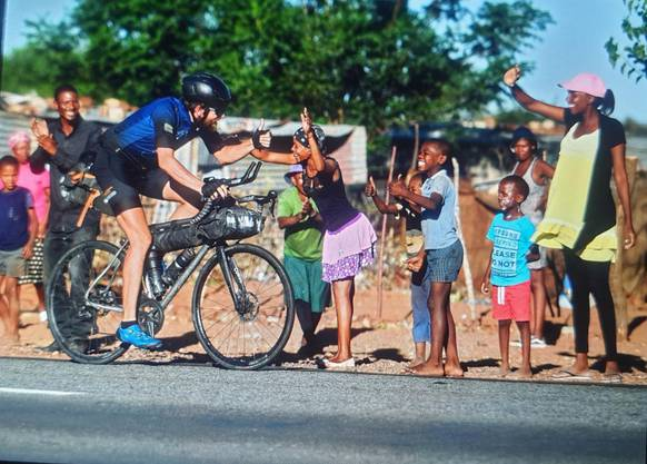 Jonas Deichmann in Südafrika