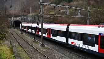 Ein dritter Juradurchstich ist in weite Ferne gerückt. Hier die Hausenstein-Basistunnel-Einfahrt in Tecknau.