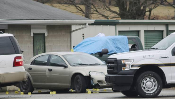 Der Tatort des Eifersuchtsdramas im US-Bundesstaat Pennsylvania befindet sich bei einer Autowaschanlage im Ort Melcroft.