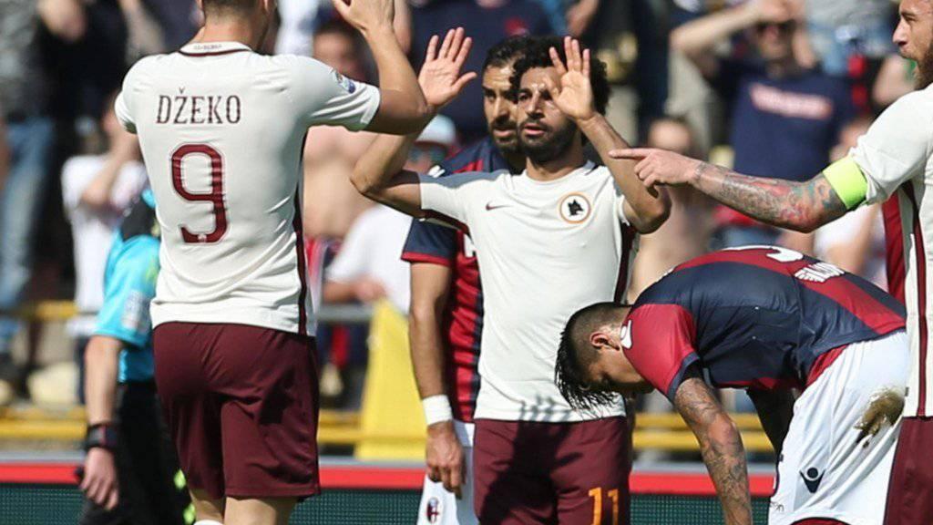 Mohamed Salah (11) schoss den zweiten Treffer der AS Roma