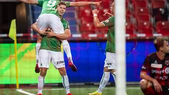 Cedric Itten sorgte mit seinem Tor für den glücklichen St. Galler Sieg