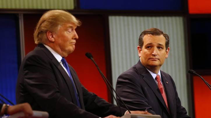Donald Trump und Ted Cruz bei einer TV-Debatte (Archiv)