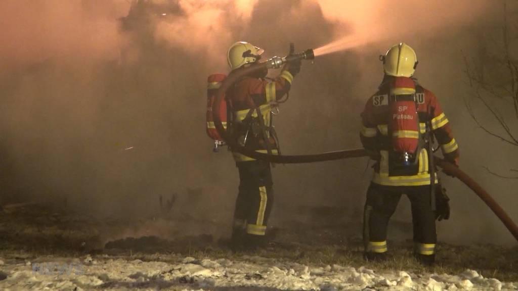 Hausbrand bei Twannberg: Kein Wasser für die Feuerwehr