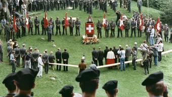 Erinnerung: Schon 1989 gedachten die Armeeangehörigen anlässlich der «Diamant-Feier» – wie hier auf dem Rütli – der Mobilmachung.
