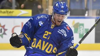 Magnus Nygren, neuer schwedischer Verteidiger beim HC Davos, kam gegen Servette zu zwei Assists