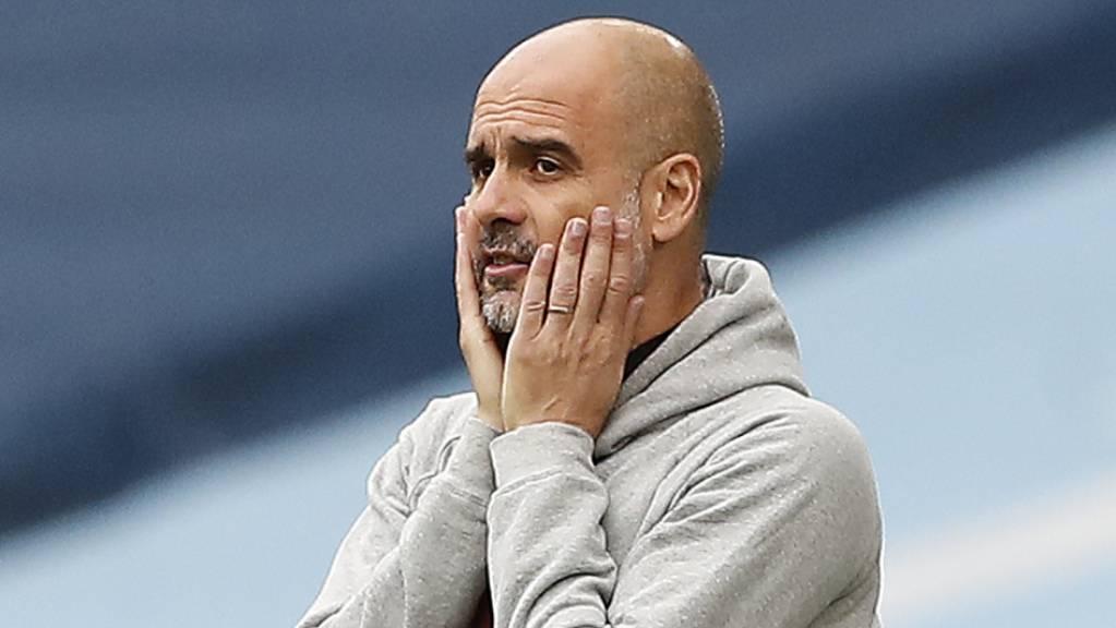 Pep Guardiola musste mitansehen, wie seine Mannschaft einen 1:0-Vorsprung noch verspielte