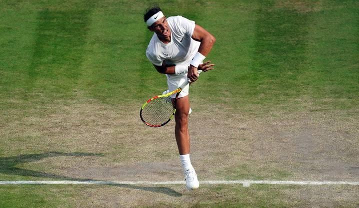 Er serviert härter und präziser: Rafael Nadal hat sich in den letzten Jahren beim Aufschlag extrem gesteigert.