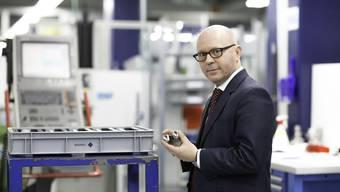 «Ich bin gut angekommen in Bettlach»: Der Oberaargauer Benjamin Reinmann ist seit vier Monaten neuer CEO der Mathys AG.