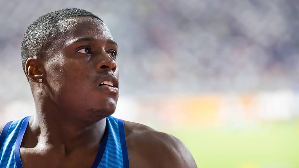 Christian Coleman muss bei den Olympischen Spielen in Tokio definitiv zuschauen.