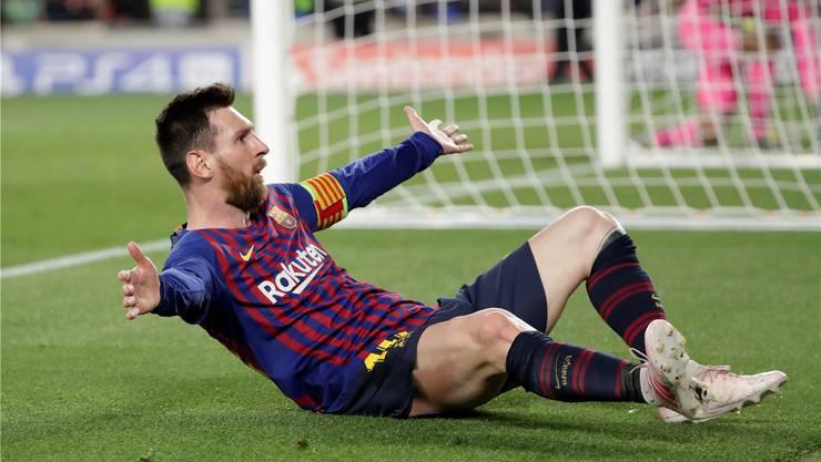 Lionel Messi schiesst Barcelona mit einem herrlichen Freistoss-Tor zum 3:0-Heimsieg gegen Liverpool.