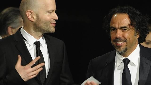 Marc Forster (l.) und Alejandro Gonzales Innaritu kurz vor der Preisvergabe
