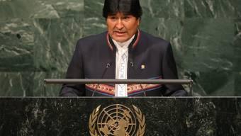 Boliviens Präsident Evo Morales Ayma hat am Montag, wie gerichtlich angeordnet, einen DNA-Test gemacht. Seine Ex-Freundin verweigerte dagegen eine Blutentnahme bei sich und ihrem Sohn. (Archivbild)