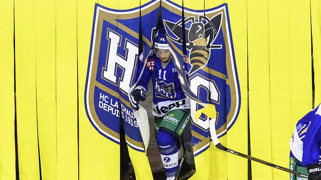 Brauchen sich vor den Gegnern derzeit nicht zu verstecken: die Spieler des HC La Chaux-de-Fonds
