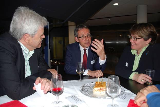 Borer_Hofmann_Wildi: Urs Hofmann ist überzeugt, dass das Hightech Zentrum KMU entscheidende Unterstützung bieten kann.