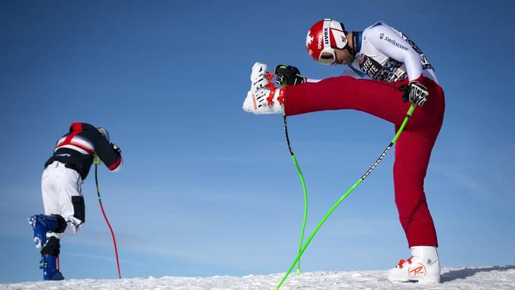 Carlo Janka (rechts): vielleicht nicht bei 100 Prozent, aber besser als im Vorwinter.