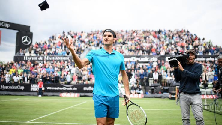 Roger Federer verhinderte in Stuttgart die dritte Niederlage in Folge.