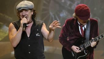 AC/DC-Sänger Brian Johnson und Gitarrist Angus Young. (Archiv)