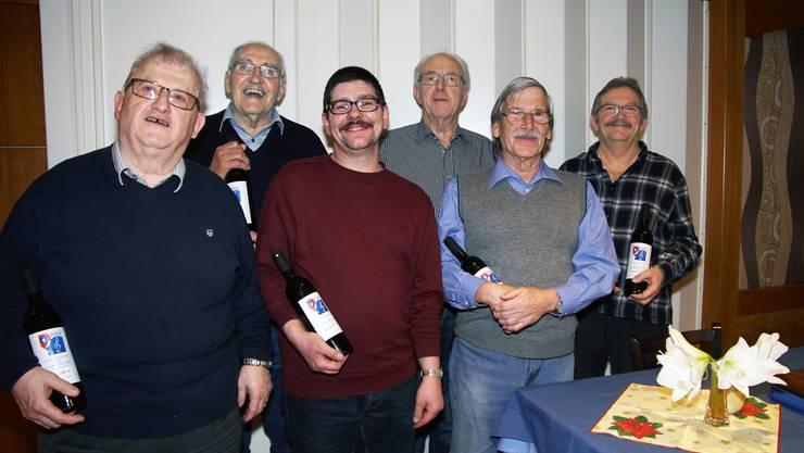 v.l Werner Scheibler,WalterDill,Thomas Crameri,StefanSchenker Franz Marti und Renè Koch