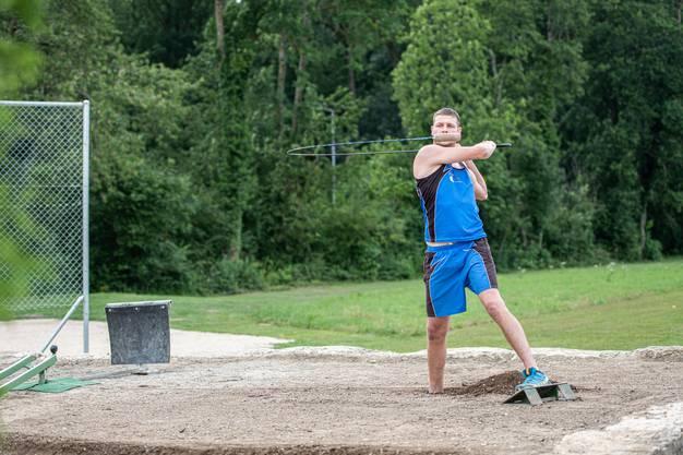 Portrait Hornusser Christoph Bieri aus Grenchen im Cupfinal-Spiel gegen Lyss