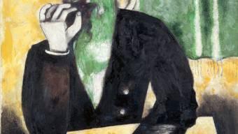 Marc Chagalls «La prisée (Der Rabbiner)», 1923 bis 1926, Öl auf Leinwand, 116.7 x 89.2 Zentimeter.
